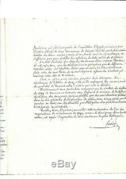1852. Egypt. Paris. Favier. Engineer. Suez Canal. Autograph Letter Signed +