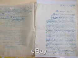 38 Double Signed Letters Of H. Monfreid Hectographic Ethiopia 1929