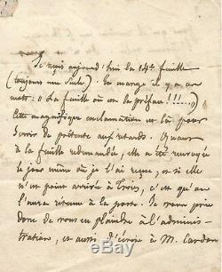 Abbot Lamennais / Autograph Letter Signed To Pagnerre Editor