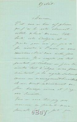 Adelaide Zelia Ponsin Actress French Comedie 7 Letters Signed Autograph