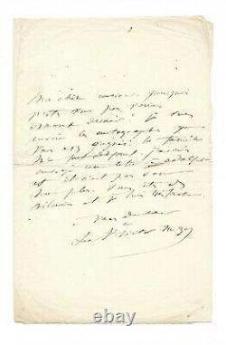 Adèle Hugo (mother) / Signed Autograph Letter