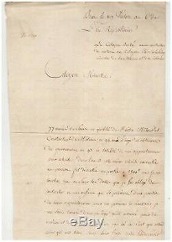 Admiral Pleville Le Pelley / Signed Letter (1798) / Brest / Navy / Corsair