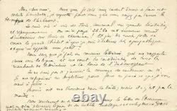 Alain Fournier Jacques Riviere Signed Autograph Letter. The Great Meulnes