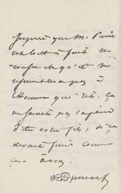 Alexandre Dumas Autograph Letter Signed Edmond About
