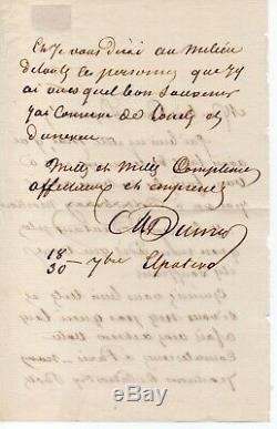 Alexandre Dumas Autograph Letter Signed, Russia 18-30 September 1859