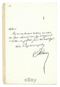 Alexandre Dumas Father / Autograph Letter Signed / Marie Dorval Romantic Paris