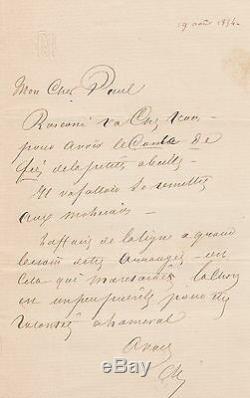 Alexandre Dumas Father Signed Autograph Letter