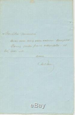Alexandre Dumas Father / Superb Autograph Letter Signed / Circa 1853