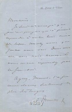 Alexandre Dumas Fils Autograph Letter Signed