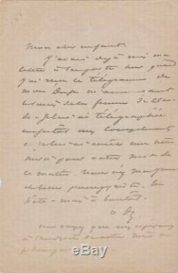 Alexandre Dumas Son Autograph Letter Signed Eleonora Duse