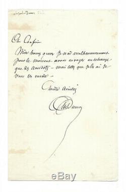 Alexandre Dumas (father) / Autograph Letter Signed