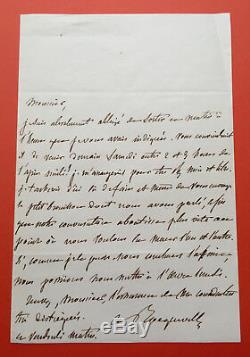 Alexis De Tocqueville Autograph Letter Signed