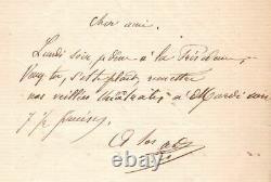 Alphonse Daudet, Writer, 1860, Autograph Letter Signed