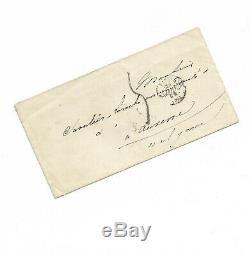 Alphonse De Lamartine / Autograph Letter Signed / Auxerre