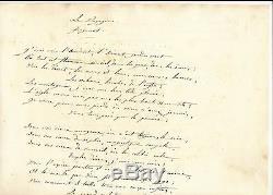 Anaïs Segelas Poem Autograph Signed Creole Voyageur Feminism