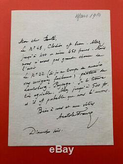 Anatole France Autograph Letter Signed