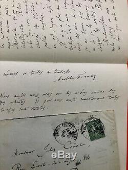 Anatole France Autograph Letter Signed Jules Couët