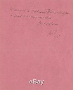 André Gide / Autograph Letter Signed / 1934