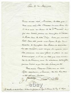 Antoine Laurent De Lavoisier / Signed Letter / Modern Chemistry / Revolution