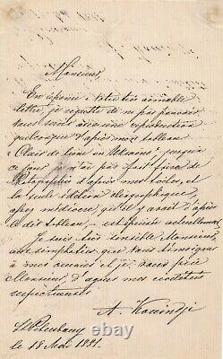 Arkhip Kuindji Ukrainian Painter Ukraine Autograph Letter Signed Moonlight