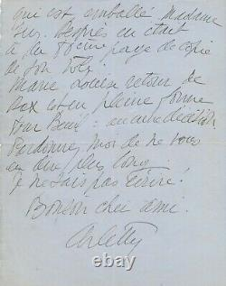 Arletty Autograph Letter Signed Piece Late Madame Pic Charles Lugné-poe