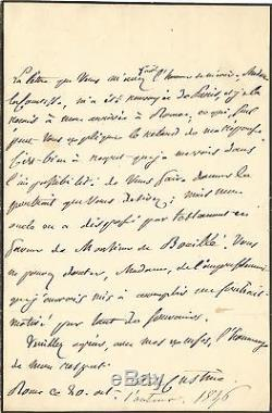 Astolfo Of Custine Autograph Letter Signed. 1836