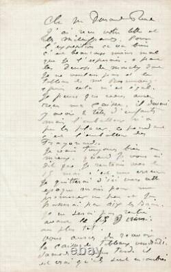 Auguste Renoir Autograph Letter Signed To Paul Durand-ruel