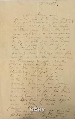 Auguste Renoir / Signed Autograph Letter / His Paintings And His New Workshop