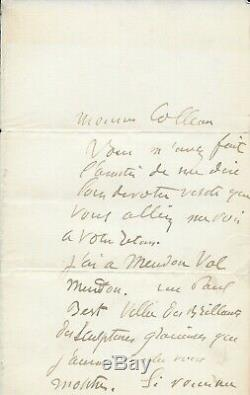 Auguste Rodin Autograph Letter Signed