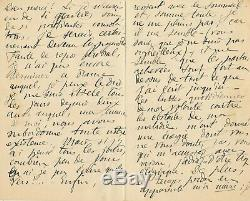 Augustus Leon Dorchain Beautiful Autograph Letter Signed Writing Sickness 8 Pages
