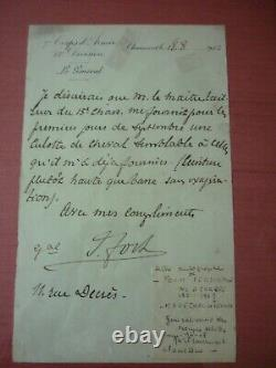 Autograph Letter Signed By Marshal Foch