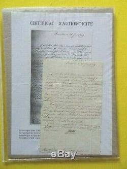 Autograph Letter Signed Cambace'res Of 25 June 1819 In Familial