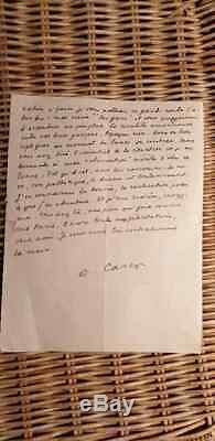 Autograph Letter Signed In 1947 Francis Carco