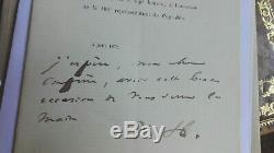 Autograph Letter Signed Victor Hugo Alexandre De Lavergne Ruy Blas Rare