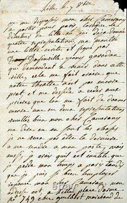 Autographical Letter Signed By Madame Dugazon Dancer And Actress (1755-1821)