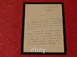 Autographical Letter Signed Henri Gouhier (historian Philosopher) 1929