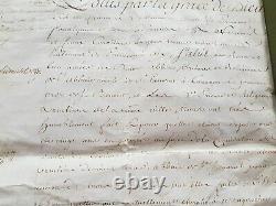 Beautiful And Rare Manuscript Letter Original Signee By Louis XV 18 February 1770