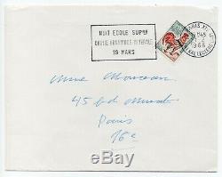 Beauvoir (simone) Autograph Letter Signed Handwritten + Page