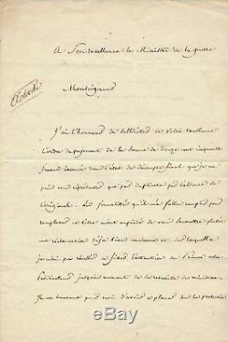 Belleteste Orientalist Autograph Letter Signed Payment Order Napoleon Egypt