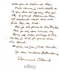 Bernard Clavel Autograph Letter Nice Letter Signée-