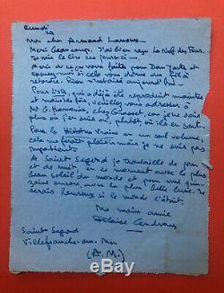 Blaise Cendrars Autograph Letter Signed / Gold