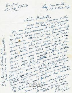 Brassaï / Autograph Letter Signed / 1970