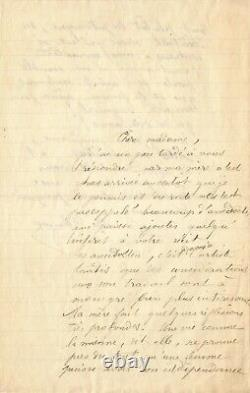 Camille Claudel Exceptional Autograph Letter Signed On Her Art And Her Life