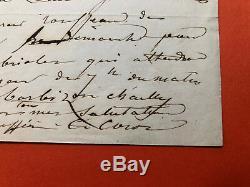 Camille Corot Autograph Letter Signed / Barbizon Rousseau