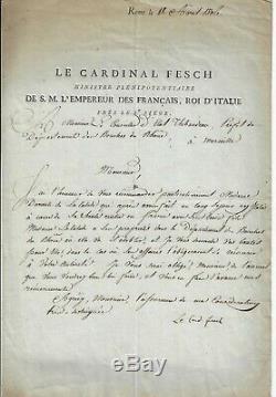 Cardinal Fesch Letter Signed By Antoine Claire Thibaudeau G. 5080