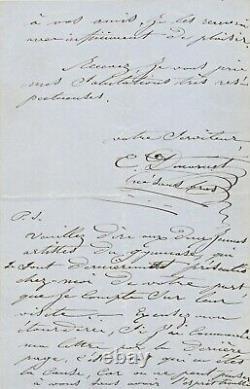 César Ducornet Autograph Letter Signed Painter Born Without Arms