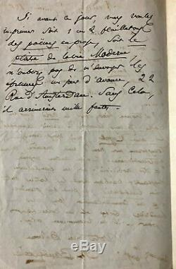 Charles Baudelaire Beautiful Autograph Letter Signed Mario Uchard (1863)