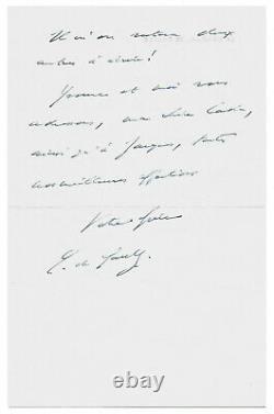 Charles De Gaulle / Autograph Letter Signed / Edith Piaf