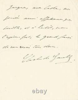 Charles De Gaulle / Autograph Letter Signed Youth. April 1922