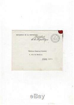 Charles De Gaulle / Signed Letter (1964) / Ms. Gabriel Faure / André Malraux